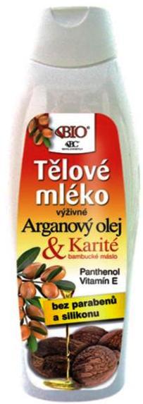 Bione Cosmetics Arganový olej & Karité výživné tělové mléko 500 ml