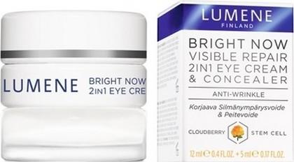 Fotografie Lumene Bright Now Visible Repair 2v1 oční krém 12 ml a korektor 5 ml