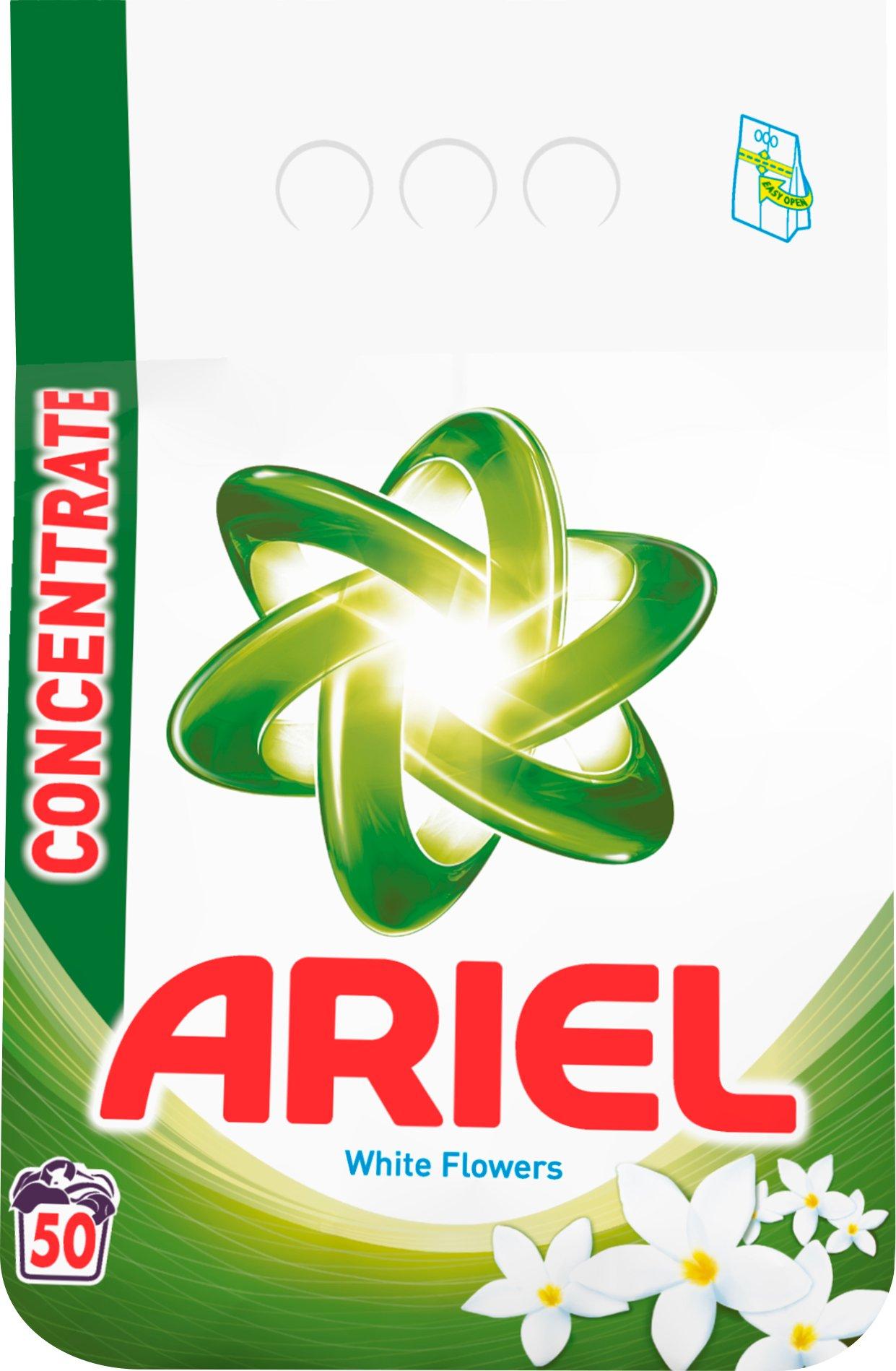Ariel White Flowers prací prášek 50 dávek 3,75 kg