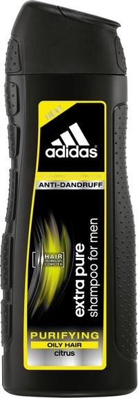 Fotografie Adidas Extra Pure proti lupům šampon pro mastné vlasy pro muže 400 ml
