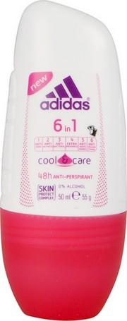 Fotografie Adidas Cool & Care 48h 6v1 kuličkový antiperspirant deodorant roll-on pro ženy 50 ml