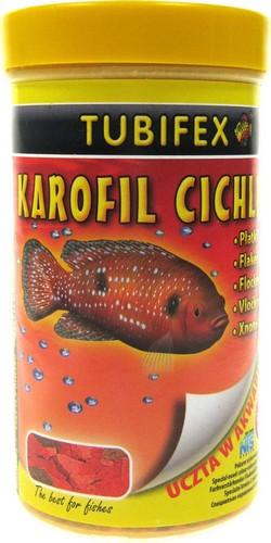 Fotografie Tubifex Karofil Cichlid vločkové krmivo pro ryby Cichlidy 40 g