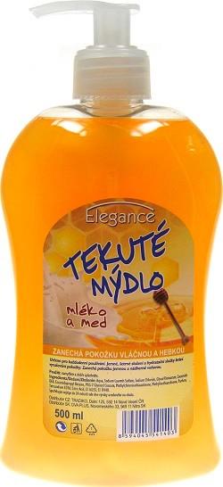 Elegance Mléko a med tekuté mýdlo dávkovač 500 ml