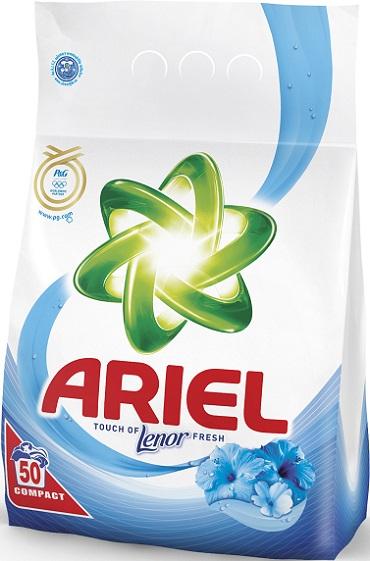 Fotografie Ariel Touch of Lenor Fresh prací prášek 50 dávek 3,5 kg