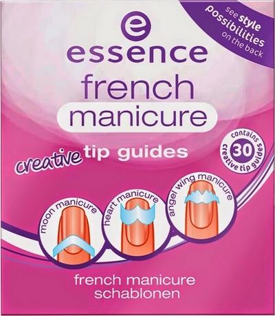 Essence French Manicure Tip Guides šablony na francouzskou manikúru 02 From Heaven With Love 30 kusů