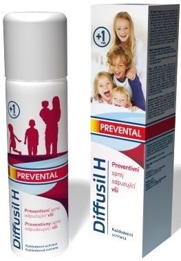 Fotografie Diffusil H Prevental preventnivní sprej odpuzující vši 150 ml
