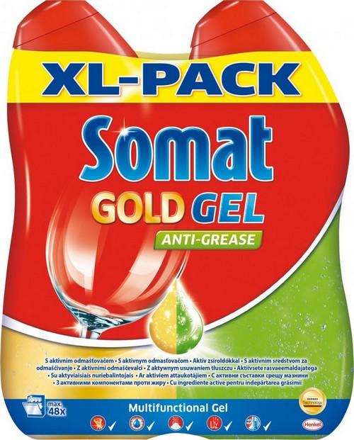 Fotografie Somat Gold gel AntiGrease 2 x 600 ml