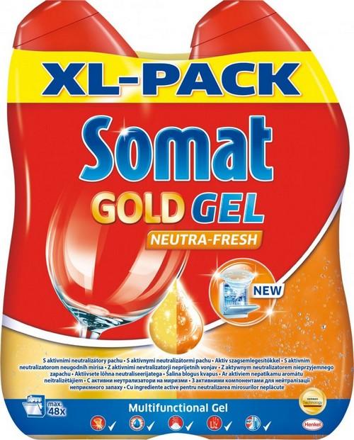 Somat Gold Gel Neutra Fresh gel s aktivním neutralizátorem pachu 2 x 600 ml