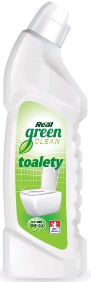 Real Green Clean Toalety gelový prostředek na toalety a koupelny 750 g
