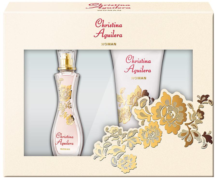 Christina Aguilera Woman parfémovaná voda 30 ml + sprchový gel 50 ml, dárková sada