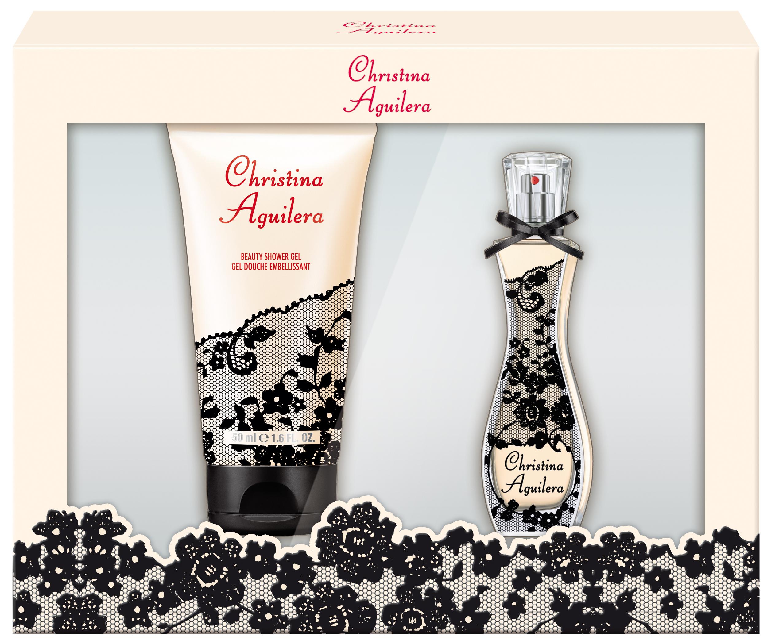 Christina Aguilera Signature parfémovaná voda 30 ml + sprchový gel 50 ml, dárková sada