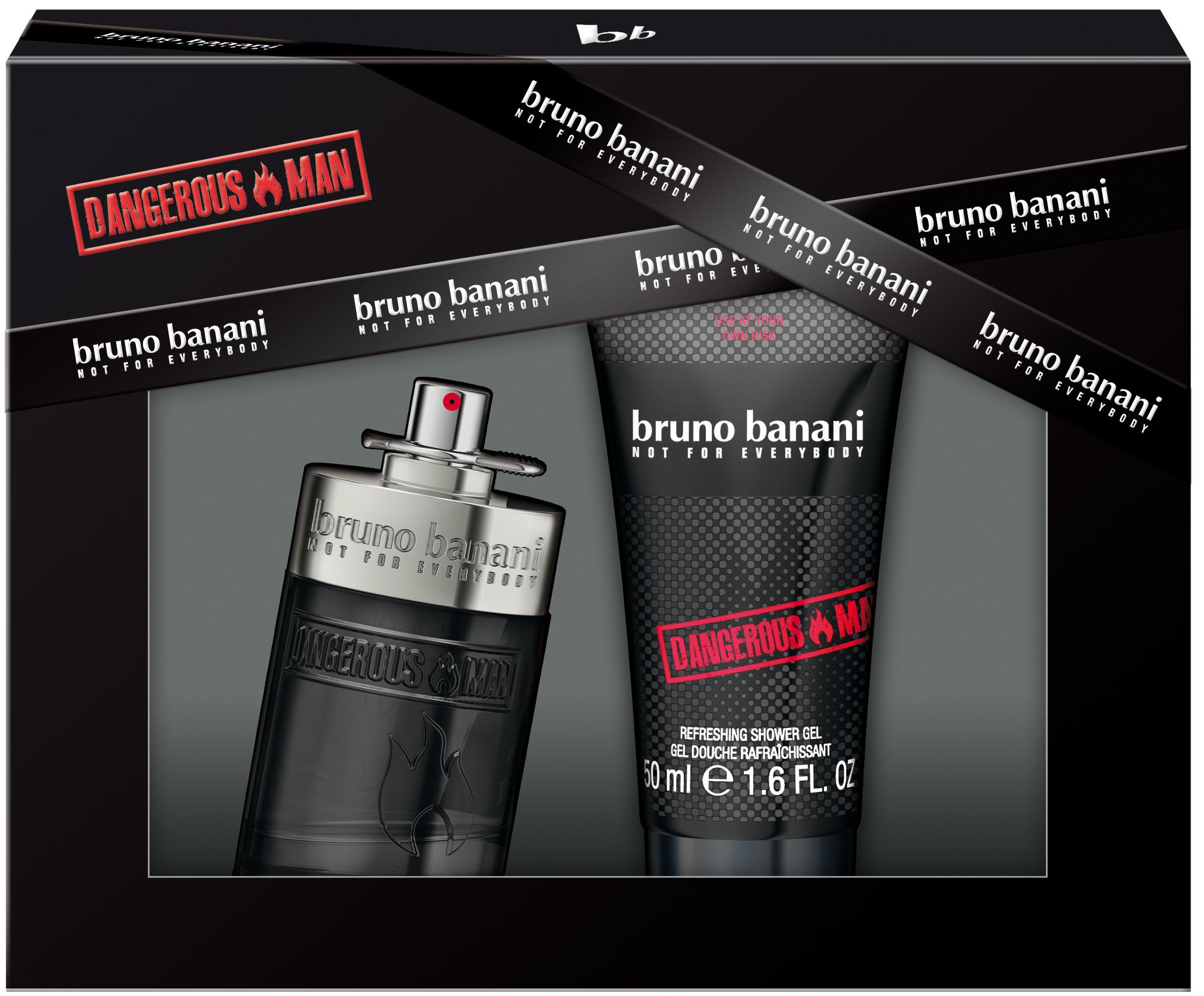 Bruno Banani Dangerous Man toaletní voda 30 ml + Sprchový gel 50 ml, dárková sada