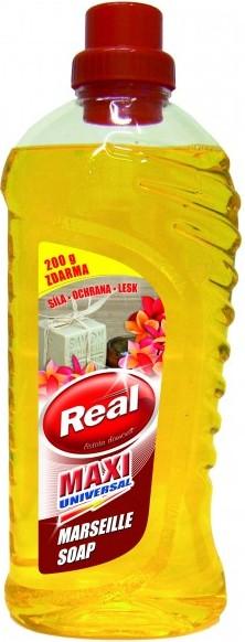 Fotografie Real Maxi Universal Marseille Soap univerzální čistící prostředek na mytí všech omyvatelných povrchů 1000 g