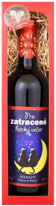 Bohemia Merlot Zatraceně hezký večer 0,75 l, dárkové víno