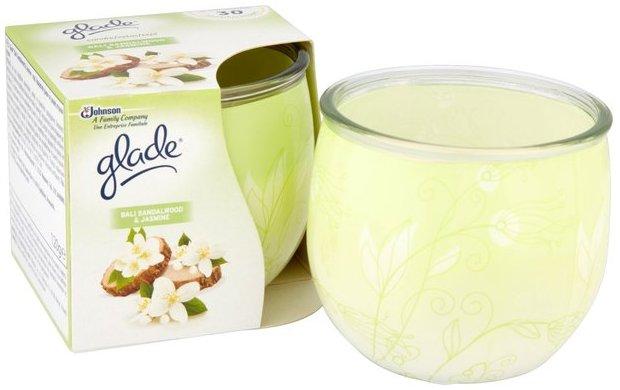Glade by Brise Bali Sandalwood & Jasmine vonná svíčka ve skle doba hoření až 30 hodin 120 g