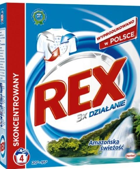 Rex 3x Action Amazonia Freshness Pro-White prací prášek 4 dávky 300 g