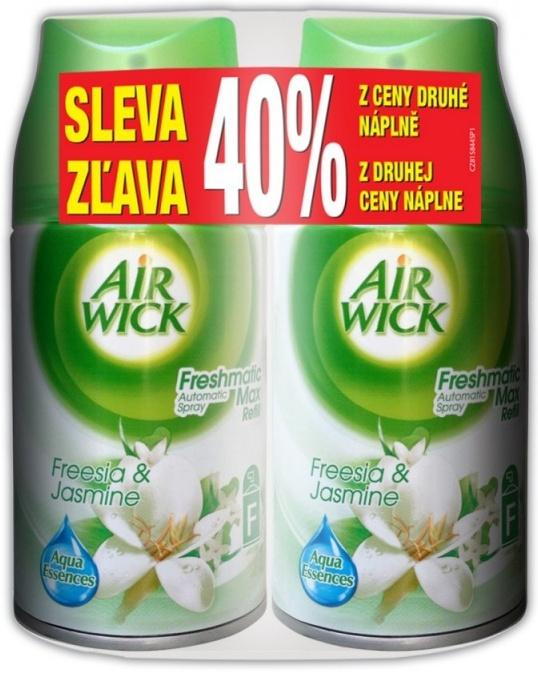 Fotografie Air Wick Freshmatic Max Náplň do osvěžovače vzduchu bílé květy 2 x 250 ml