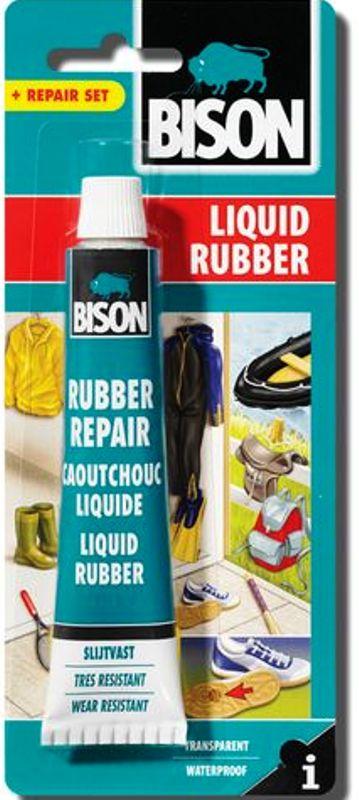 Fotografie Bison Liquid Rubber tekutý kaučuk 50 ml blistr, průhledná pasta na opravy, ochranu a impregnaci tisíců různých předmětů
