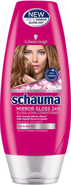 Fotografie Schauma Mirror Gloss 24h balzám pro vlasy bez lesku 200 ml