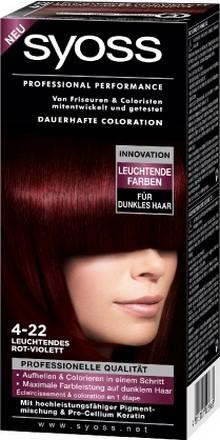 Fotografie Syoss Professional barva na vlasy 4 - 22 šarlatově rudý