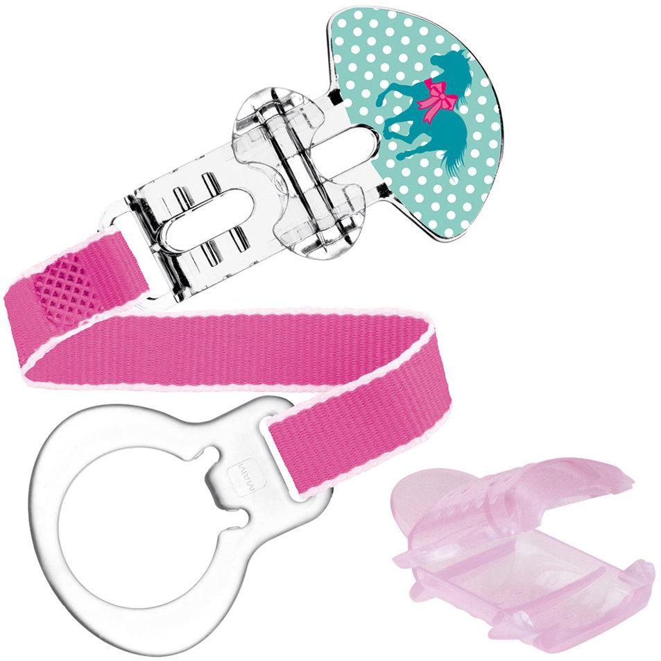 Mam Clip & Cover pásek na šidítko s krytkou různé barvy a motivy 1 kus