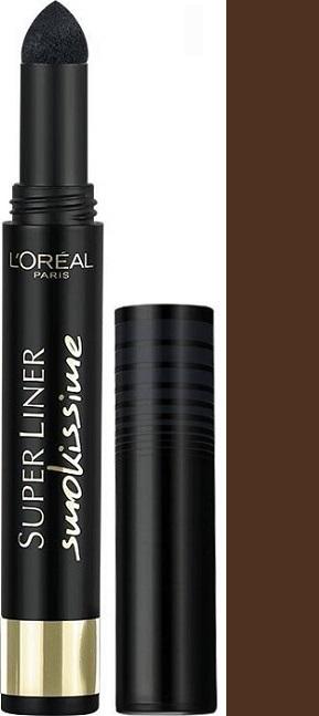 Fotografie Loreal Paris Super Liner Smokissime oční linky 102 Brown Smoke 1 g
