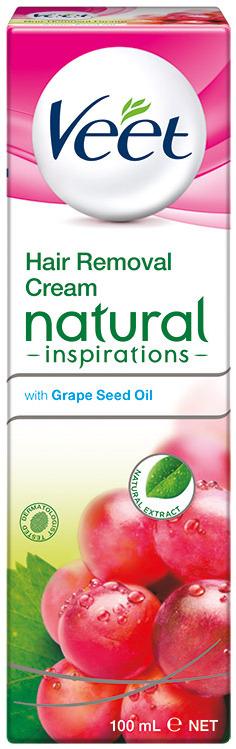 Veet Natural Inspirations depilační krém pro citlivou pokožku nohy a tělo 100 ml