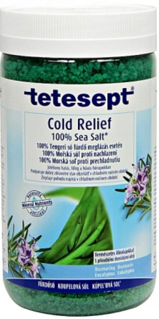 Fotografie Tetesept Nachlazení Eukalyptus + Rozmarýn, 100% Mořská sůl pro prokrvení celého těla 900 g Cold Relief