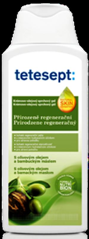 Tetesept Přirozeně regenerační Olivový olej + Bambucké máslo sprchový gel 250 ml