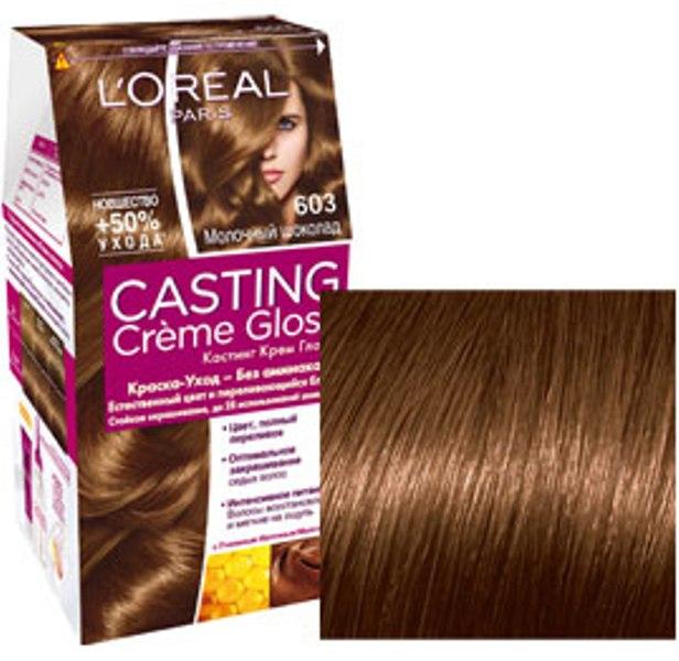 Fotografie Loreal Paris Casting Creme Gloss barva na vlasy 603 čokoládová karamelka