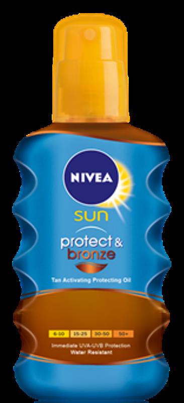 Nivea Sun Protect + Bronze F 30 olej na opalování ve spreji podporující zhnědnutí 200 ml ve spreji