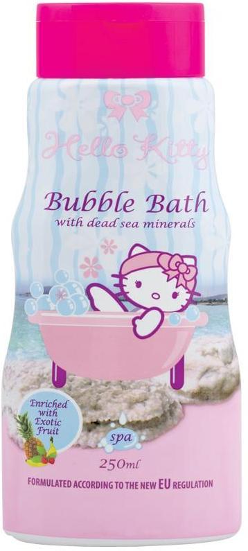 Hello Kitty Minerály z Mrtvého moře a vůní exotického ovoce pěna do koupele 250 ml