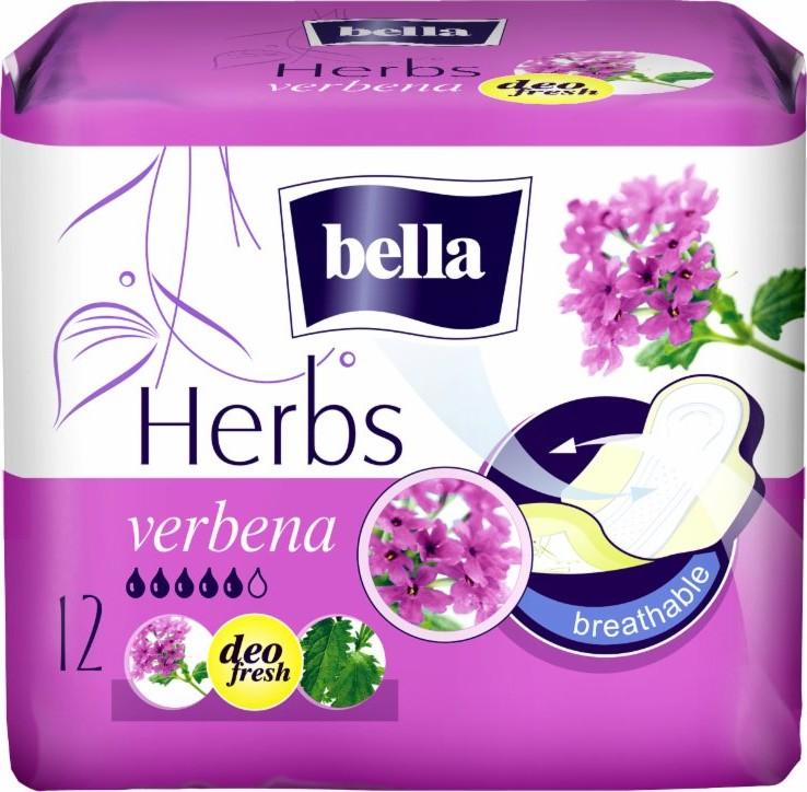Fotografie Bella Herbs Verbena prodyšné hygienické vložky 12 ks