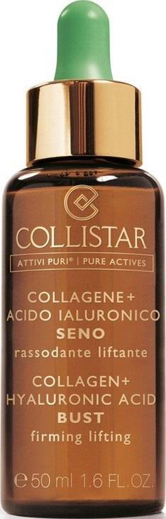 Collistar Pures Actives Collagen+ Hyaluronic Acid Bust Firming Lifting zpevňující a vyhlazující čisté látky na prsa a dekolt 50 ml