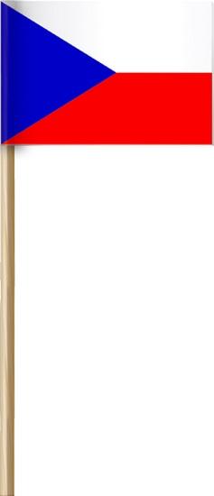 Arch Papírová vlajka České republiky na dřívku 42 cm 1 kus