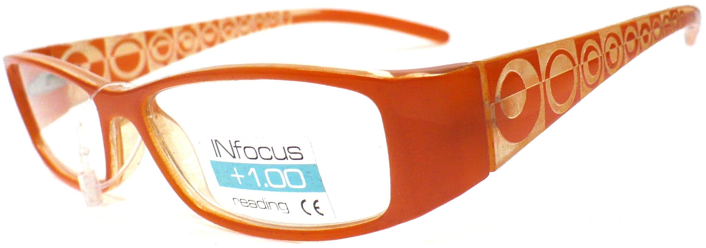 Berkeley Čtecí dioptrické brýle +1,0 oranžové 1 kus R7603 PD62
