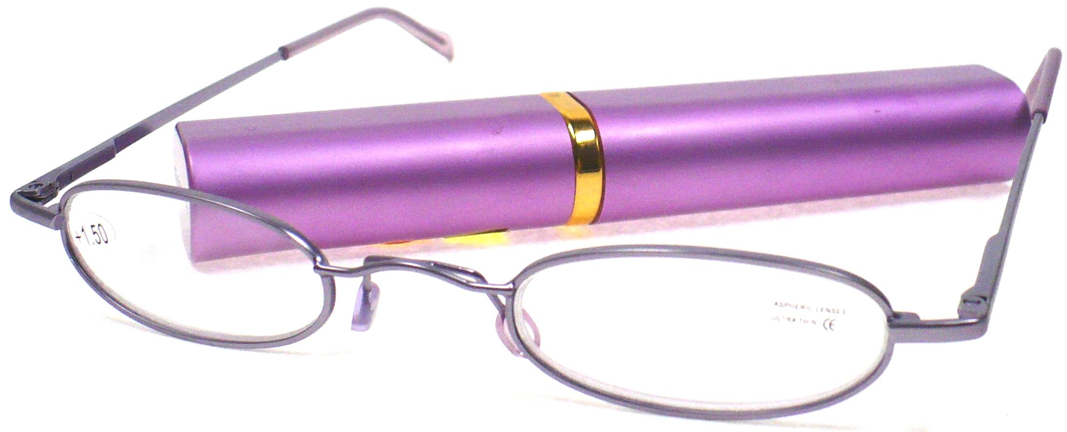 Berkeley Cleopatra čtecí dioptrické brýle +2,0 fialové v pouzdru 1 kus M160