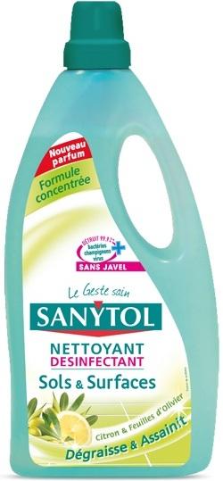 Sanytol Dezinfekce Citrón a olivové lístky čistič na podlahy a plochy 1 l