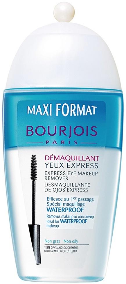 Fotografie Bourjois Express Eye Make-up Remover speciální expresní odličovač na oči pro voděodolné přípravky 200 ml