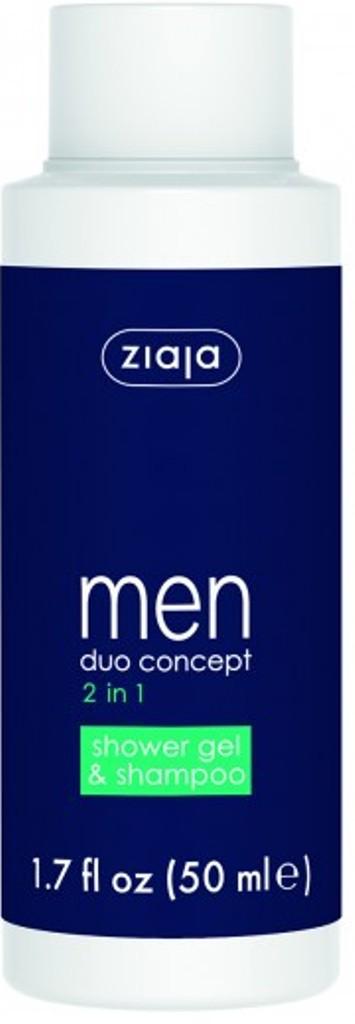 Fotografie Ziaja Men 2v1 sprchový gel a šampon cestovní balení 50 ml