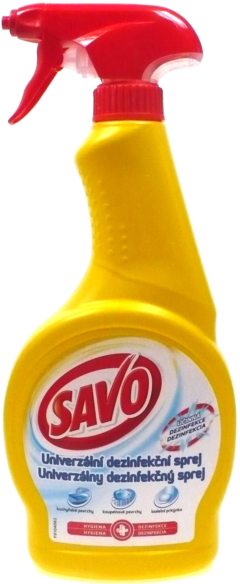 Fotografie Savo univerzální dezinfekční sprej 500 ml
