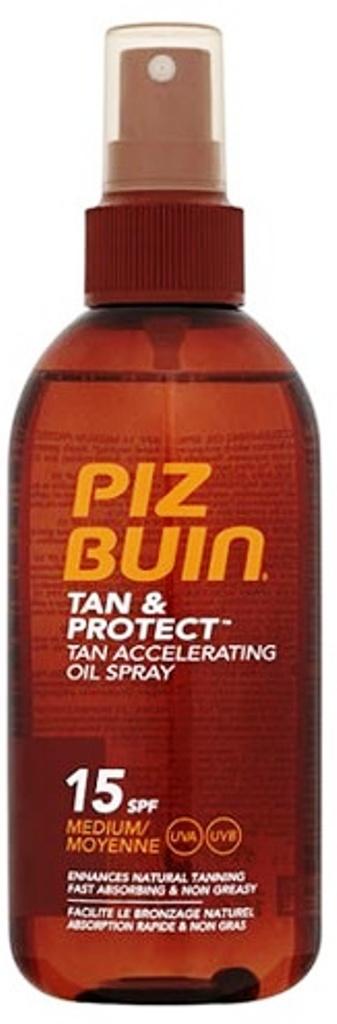 Piz Buin Tan & Protect Tan Accelerating Oil Spray ochranný olej ve spreji SPF 15 150 ml