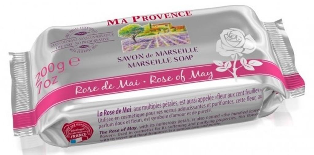 Ma Provence Bio Jarní růže Pravé Marseille toaletní mýdlo 200 g