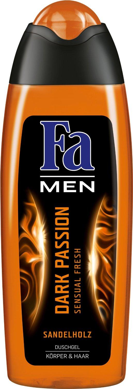 Fotografie Fa Men Dark Passion sprchový gel na tělo a vlasy pro muže 250 ml