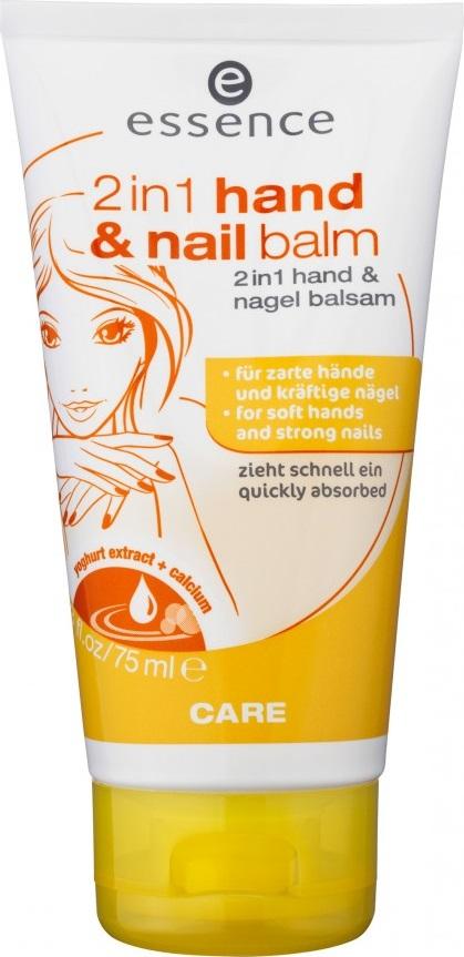 Fotografie Essence 2v1 Hand & Nail Balm krém na ruce a nehty 75 ml
