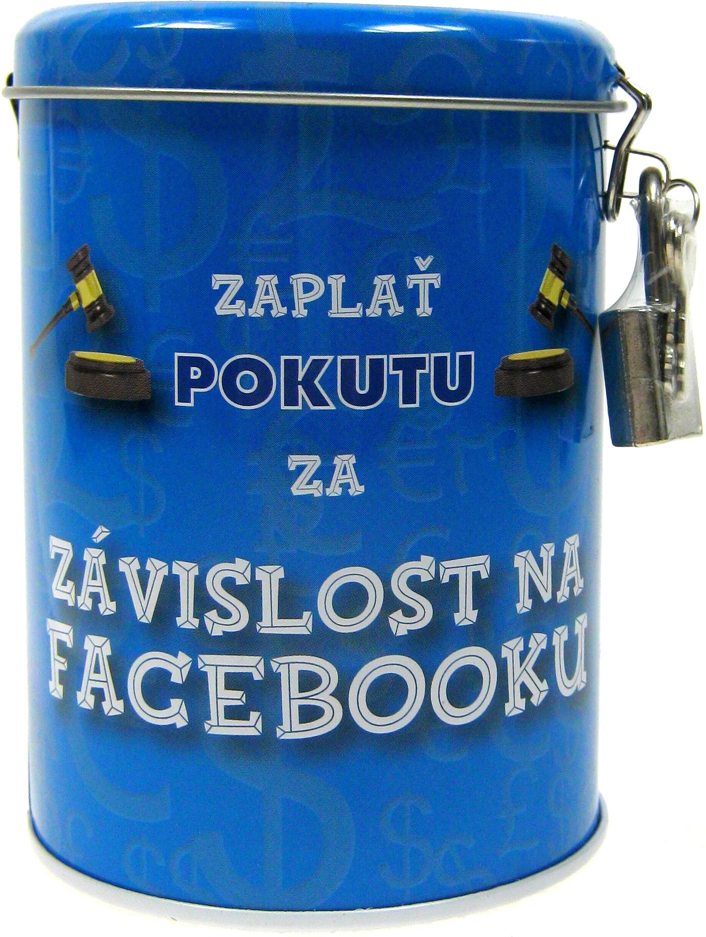 Nekupto Pokladnička na pokuty Zaplať pokutu za závislost na Facebooku 10,5 x 7,5 cm 1 kus
