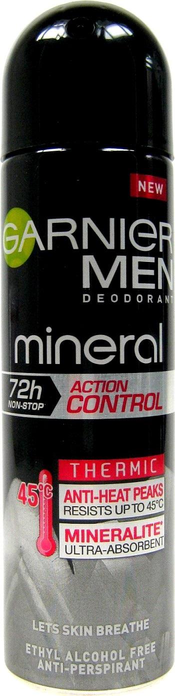 Garnier Men Mineral Action Control Thermic 72h antiperspirant deodorant sprej pro muže 150 ml