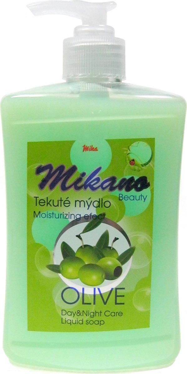 Fotografie Mika Mikano Beauty Olive tekuté mýdlo s dávkovačem 500 ml