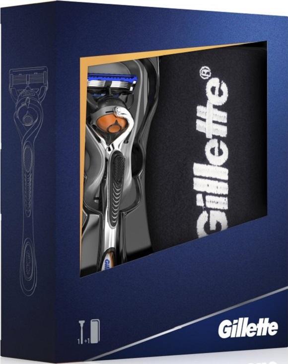 Gillette Fusion Proglide Flexball holící strojek + bavlněný ručník, kosmetická sada