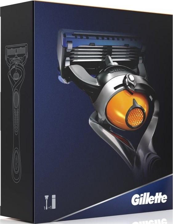 Gillette Fusion Proglide Flexball holící strojek + Fusion Proglide Sensitive Active Sport gel na holení 170 ml, kosmetická sada